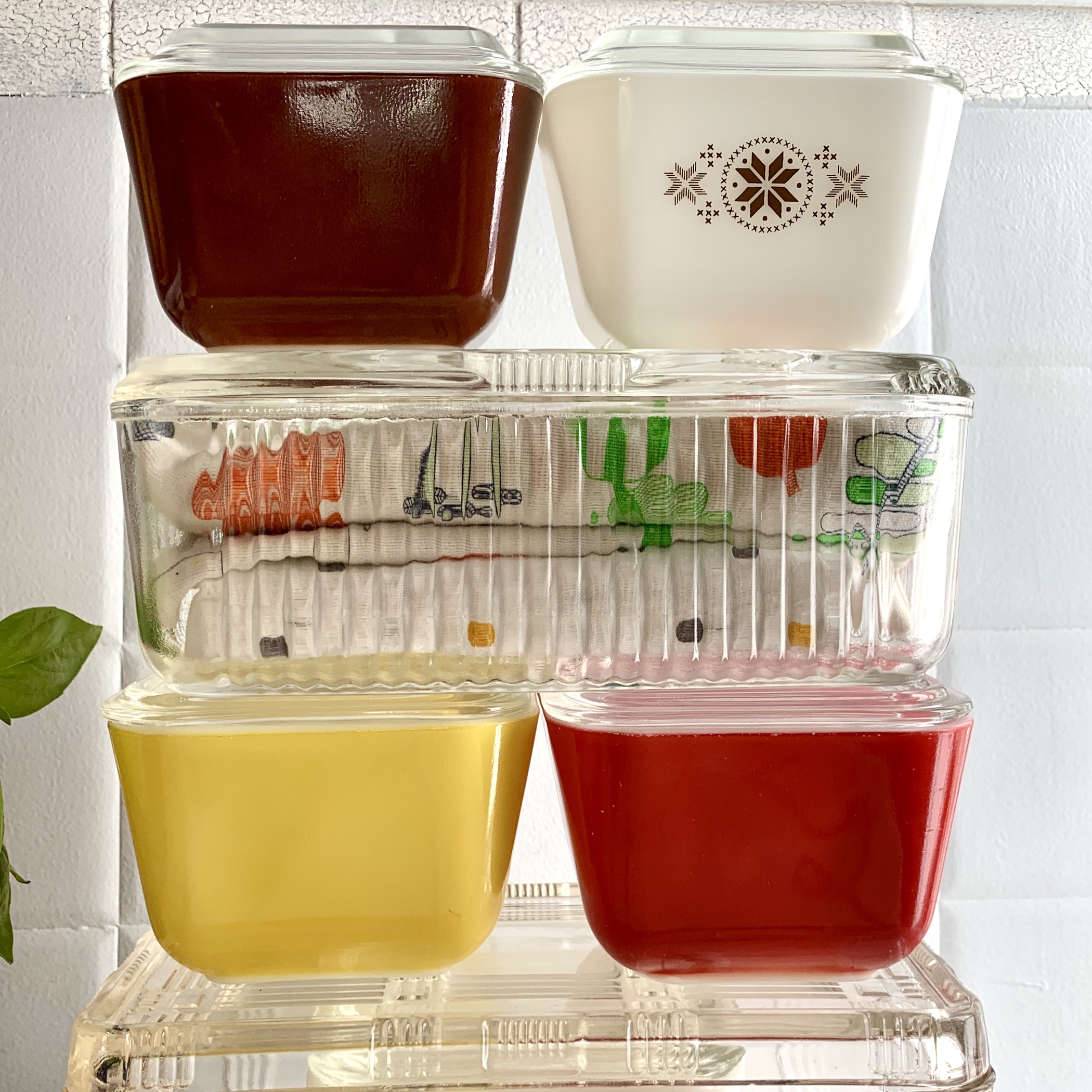 Vintage Pyrex Fridgies and Federal glass